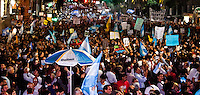 People attend a protest against the policies government of Argentina's President Cristina Fernandez in Buenos Aires April 18, 2013. Photo by Juan Gabriel Lopera / VIEWpress.