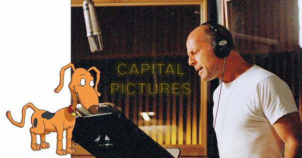 SPIKE & BRUCE WILLIS.the voice of Spike in Rugrats Go Wild.Filmstill - Editorial Use Only.Ref: FB.sales@capitalpictures.com.www.capitalpictures.com.Supplied by Capital Pictures.