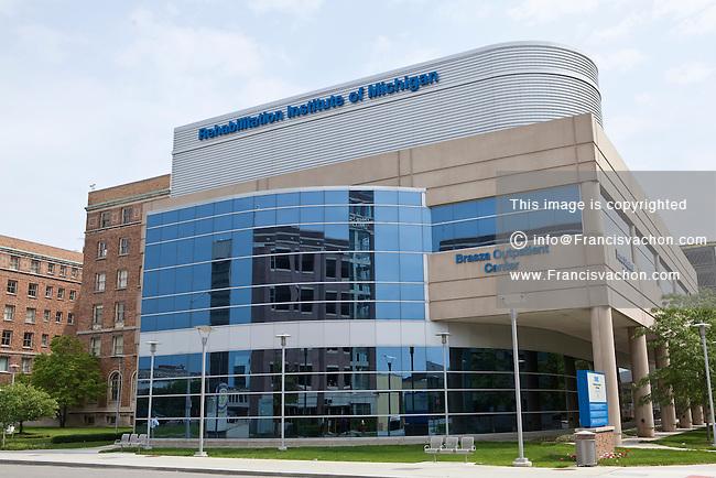 The Rehabilitation institute of Michigan is seen in Detroit (Mi) Sunday June 9, 2013. DMC Rehabilitation Institute of Michigan (RIM) is one of the eight hospitals/institutions composing the Detroit Medical Center.