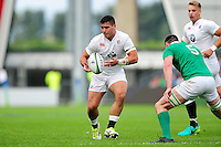 Lewis Boyce of England U20 in possession. World Rugby U20 Championship Final between England U20 and Ireland U20 on June 25, 2016 at the AJ Bell Stadium in Manchester, England. Photo by: Patrick Khachfe / Onside Images