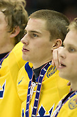 ? - Team Sweden celebrates after defeating Team Switzerland 11-4 to win the bronze medal in the 2010 World Juniors tournament on Tuesday, January 5, 2010, at the Credit Union Centre in Saskatoon, Saskatchewan.