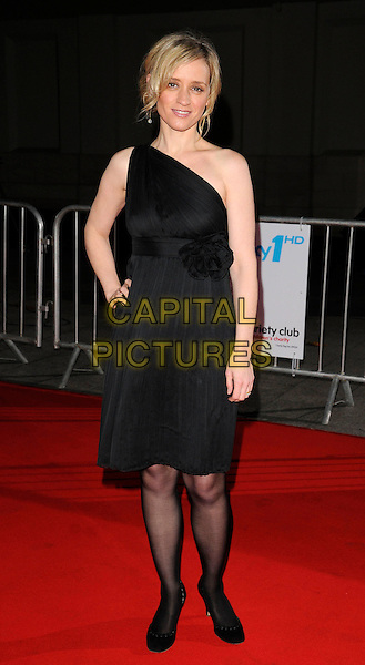 ANNE-MARIE DUFF.Attending the Variety Club Showbiz Awards 2008, held at Grosvenor House Hotel, London, England, .November 16th 2008..full length black one shoulder dress tights shoes Anne Marie hand on hip .CAP/CAN.©Can Nguyen/Capital Pictures