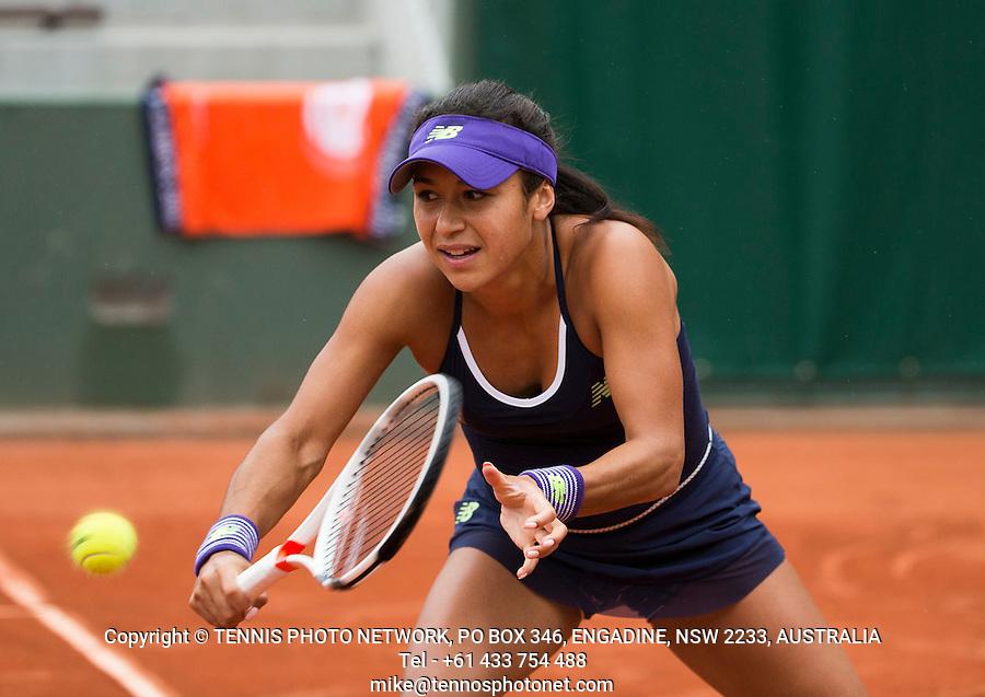 HEATHER WATSON (GBR)<br /> <br /> TENNIS - FRENCH OPEN - ROLAND GARROS - ATP - WTA - ITF - GRAND SLAM - CHAMPIONSHIPS - PARIS - FRANCE - 2016  <br /> <br /> <br /> <br /> &copy; TENNIS PHOTO NETWORK