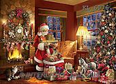 Interlitho, CHRISTMAS SANTA, SNOWMAN, WEIHNACHTSMÄNNER, SCHNEEMÄNNER, PAPÁ NOEL, MUÑECOS DE NIEVE, paintings+++++,santa fireplace,KL6076,#X#