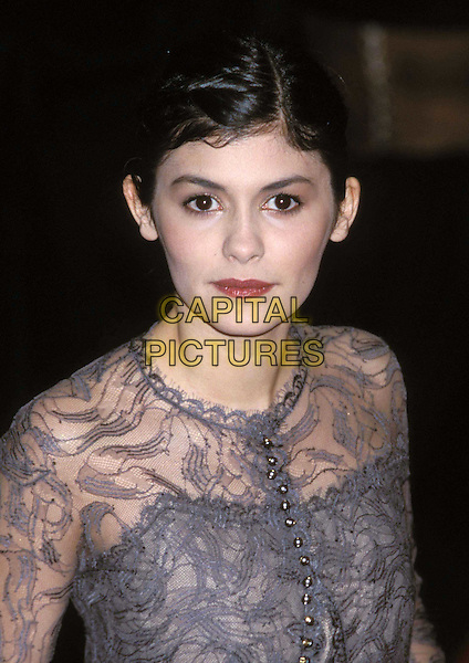 AUDREY TAUTOU   ..Arrivals at the British Academy of Film, Television & Arts Awards (BAFTAS), Odeon Leicester Square. Audrey Tautou..Ref: 11499..amelie, lace, headshot, portrait..www.capitalpictures.com..sales@capitalpictures.com..©Capital Pictures..
