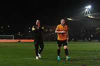 Newport County manager Michael Flynn at full time during the FA Cup Fourth Round Replay match between Newport County and Middlesbrough at Rodney Parade in Newport, Wales, UK. Tuesday 05 February 2019