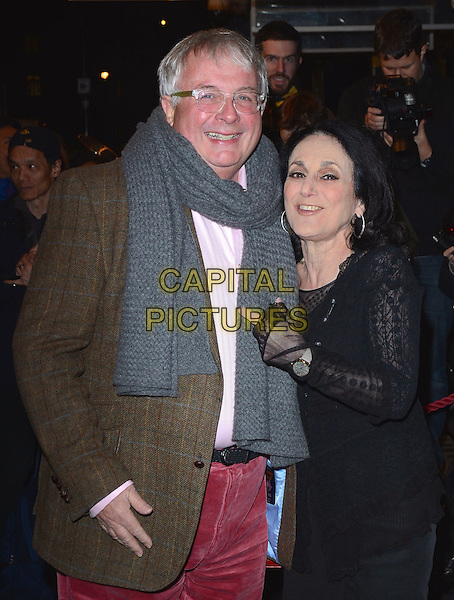LONDON, ENGLAND - FEBRUARY 25: Christopher Biggins and Lesley Joseph attends the &quot;The Full Monty&quot; press night, Noel Coward Theatre, St Martin's Lane, on Tuesday February 25, 2014 in London, England, UK.<br /> CAP/MB/PP<br /> &copy;Michael Ball/PP/Capital Pictures