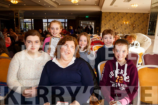 Attending the Caherleaheen School Bingo in the Rose Hotel on Sunday last. <br /> Seated l-r, Ciara, Margaret and Emma Lynch. and  Standing l-r, Abbie Redmond, Clodagh Flaherty and Tadgh Lynch.