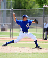 Ryan Searle / AZL Cubs pitching against the AZL Brewers at Fitch Park, Mesa, AZ - 07/26/2008..Photo by:  Bill Mitchell/Four Seam Images