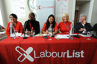 Labour Party Annual Conference<br /> Brighton<br /> 27-30 September<br /> Fringe meeting 'Backing the working class and beyond: How can we get a parliament that looks like us?' organised by Labour List and UNITE trade union.<br /> L-R Bernadette Horton, chair NE Wales UNITE community branch, Kate Osamor MP, chair, Amina Lone, former PPC for Morecambe and Lunesdale and Co-Director of the Social Action and Research Foundation, Jennie Formby, political director, UNITE and Ian Lavery MP.