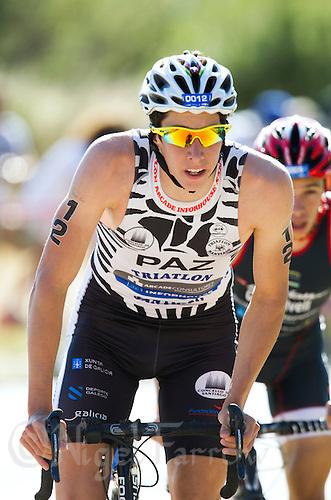02 JUN 2013 - MADRID, ESP - Diego Paz Sobreira on the bike during the men's WTP Promaster race at Casa de Campo in Madrid, Spain <br /> (PHOTO (C) 2013 NIGEL FARROW)