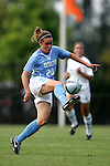 16 September 2005: Heather O'Reilly.. The North Carolina Tarheels defeated the San Diego Toreros 3-0 at Duke University's Koskinen Stadium in Durham, NC in a NCAA Division I women's soccer game.