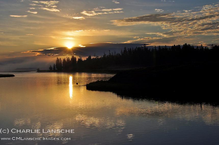 Summer sunrise over Millionaire's Hole on the Henry's Fork of The Snake River, Idaho.