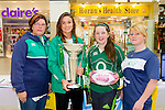 Recruiting<br /> --------------<br /> At the information and recruitment drive in the Manor shopping centre, Tralee, last Saturday to encourage girls to play rugby for Tralee or Listowel were L-R Marie McKenna (Listowel RFC)Louise Galvin (Irish International) Danielle McKenna (Listowel RFC) and Hollie O'Byrne ( Tralee RFC coach)