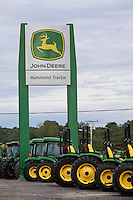 John Deere tractors are pictured at a dealer in Maine Tuesday June 18, 2013.