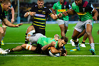 Danny Care of Harlequins scores a try in the second half. Gallagher Premiership match, between Northampton Saints and Harlequins on September 7, 2018 at Franklin's Gardens in Northampton, England. Photo by: Patrick Khachfe / JMP