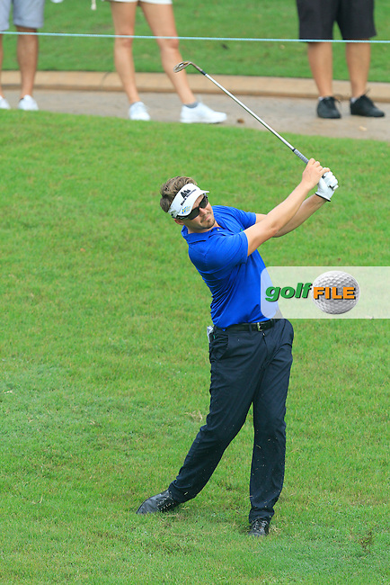 Rikard Karlberg (SWE) on the 5th during Round 3 of the CIMB Classic in the Kuala Lumpur Golf &amp; Country Club on Saturday 1st November 2014.<br /> Picture:  Thos Caffrey / www.golffile.ie