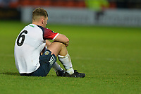 Jamie Stott Of Stockport County FC dejected during Barnet vs Stockport County, Emirates FA Cup Football at the Hive Stadium on 2nd December 2018