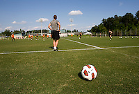 Nike Ball, Erica Walsh. The USWNT practice at WakeMed Soccer Park in preparation for their game with Japan.