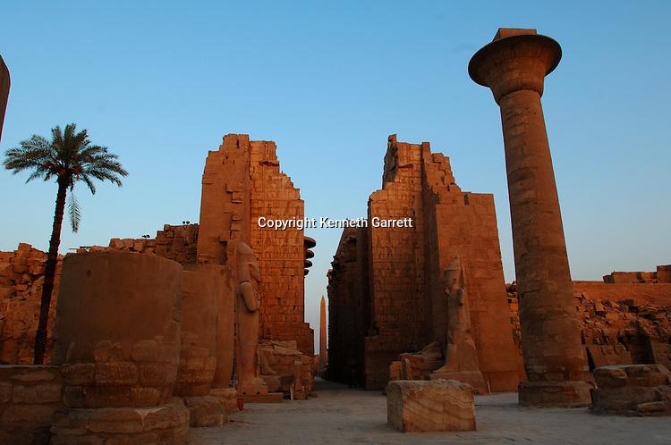 Karnak Temple, Kiosk of Taharka, first courtyard, Luxor, Egypt, mm7454. Black Pharaohs, Nubians, 25th Dynasty, Late Period