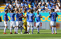 Lilien schwoeren sich ein - 05.08.2018: SV Darmstadt 98 vs. SC Paderborn 07, Stadion am Boellenfalltor, 1. Spieltag 2. Bundesliga<br /> <br /> DISCLAIMER: <br /> DFL regulations prohibit any use of photographs as image sequences and/or quasi-video.