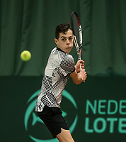 The Hague, The Netherlands, March 17, 2017,  De Rhijenhof, NOJK 14/18 years, Stef Sniekers (NED)<br /> Photo: Tennisimages/Henk Koster