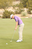 January 31st 2019, Scotsdale, Arizona, USA; Emiliano Grillo putts on the fifth hole for par during the first round of the Waste Management Phoenix Open