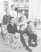 Houston, Texas - Undated file photo -- The George H.W. Bush Family, Houston, Texas, circa 1964.  George W. Bush is at center with his arm around his mother, Barbara.  Also pictured are Bush children John (Jeb), Neil, Marvin, and Dorothy..<br /> CAP/MPI/RS<br /> &copy;RS/MPI/Capital Pictures