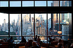 Located on the sky lobby on floor 35, the Lobby Lounge is the perfect place to enjoy a light fare, afternoon tea, or cocktails and late night desserts with dramatic views of Central Park and the City skyline. With walls of windows that greet guests as soon as the elevator doors open, the Lobby Lounge's most prominent feature is its stunning panorama of Central Park and the Manhattan skyline. The decor is a modern blend of Oriental touches and art deco chic, with a luxuriously cozy residential feel.