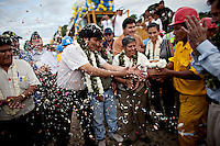 Cochabamba, Bolivia<br /> A picture dated July 3, 2011 shows Bolivian President Evo Morales in the inaguration of the construction of a new road.