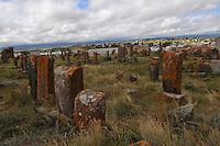 Khatchkar (Stone-Cross) of Middle Age cementery of Noraduz