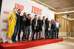 "Ingrid Garcia Jonsson, Jose Manuel Poga, Luis Tosar, the director Kike Maillo Jose Sacristan, Mario Casas, Nya de la Rubia , Claudia Canal and the producers attends to the presentation of the spanish film ""Toro"" at Hotel Hesperia in Madrid, April 19,2016. (ALTERPHOTOS/Borja B.Hojas)"