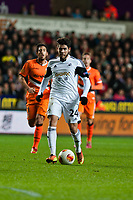 Thursday 28 November  2013  Pictured:Alejandro Pozuelo makes a run at goal in the first half <br /> Re:UEFA Europa League, Swansea City FC vs Valencia CF  at the Liberty Staduim Swansea