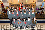 Pupils from 6th class Dromclough NS, Listowel who were confirmed in St. Michael's Church, Lixnaw on Tuesday by Bishop Ray Browne