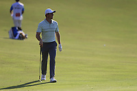 Rory McIlroy (NIR) on the 15th during the 1st round of the DP World Tour Championship, Jumeirah Golf Estates, Dubai, United Arab Emirates. 15/11/2018<br /> Picture: Golffile | Fran Caffrey<br /> <br /> <br /> All photo usage must carry mandatory copyright credit (&copy; Golffile | Fran Caffrey)