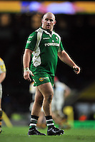 Ben Franks of London Irish looks on during a break in play. Aviva Premiership match, between London Irish and Wasps on November 28, 2015 at Twickenham Stadium in London, England. Photo by: Patrick Khachfe / JMP
