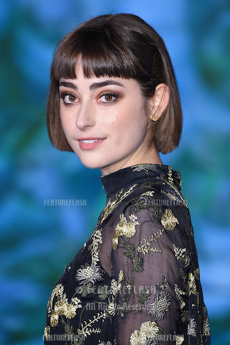 """LONDON, UK. December 12, 2018: Ellise Chapell at the UK premiere of """"Mary Poppins Returns"""" at the Royal Albert Hall, London.<br /> Picture: Steve Vas/Featureflash"""