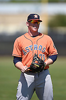 Houston Astros infielder Marc Wik (71) warms up before a minor league spring training game against the Detroit Tigers on March 21, 2014 at Osceola County Complex in Kissimmee, Florida.  (Mike Janes/Four Seam Images)