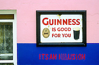 Guinness sign at Dan Foley's Irish pub, Annascaul, County Kerry, Ireland