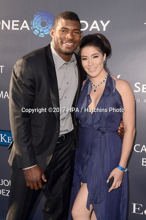 LOS ANGELES - JUN 8:  Yasiel Puig, Guest at the Los Angeles Dodgers Foundations 3rd Annual Blue Diamond Gala at the Dodger Stadium on June 8, 2017 in Los Angeles, CA