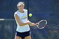 18 March 2012:  FIU's Sarah McLean returns the ball during her singles match against Columbia's Nicole Bartnik as the Columbia Lions defeated the FIU Golden Panthers, 5-2, at University Park in Miami, Florida.