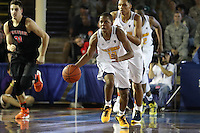 JOINT BASE PEARL HARBOR-HICKAM, HI - December 6, 2016: Cal Bears Men's Basketball team vs. the Princeton Tigers in the FS1 Pearl Harbor Invitational at Bloch Arena.  Final score, Cal Bears 62, Princeton Tigers 51.