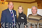 NETWORK: Talking the talk at the Community Communication Network conference in Tralee on Friday were, l-r: Bill Morrell (Chairman, Kerry Community and Voluntary Forum), Noreen O'Mahony (Kerry County Council), Kevin Griffin (South Kerry Development Partnership).