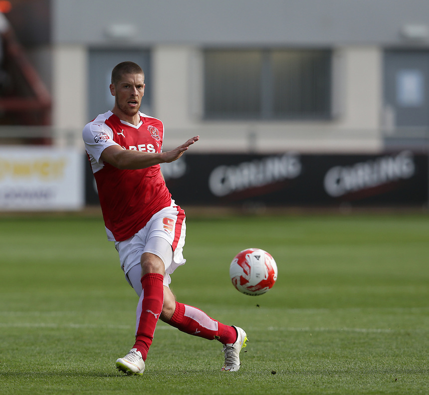 Fleetwood Town's Jamie Proctor<br /> <br /> Photographer Stephen White/CameraSport<br /> <br /> Football - The Football League Sky Bet League One - Fleetwood Town v Colchester United - Saturday 22nd August 2015 - Highbury Stadium - Fleetwood<br /> <br /> &copy; CameraSport - 43 Linden Ave. Countesthorpe. Leicester. England. LE8 5PG - Tel: +44 (0) 116 277 4147 - admin@camerasport.com - www.camerasport.com