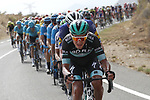 Bora-Hansgrohe working for Irish Champion Sam Bennett (IRL) during Stage 3 of La Vuelta 2019 running 188km from Ibi. Ciudad del Juguete to Alicante, Spain. 26th August 2019.<br /> Picture: Luis Angel Gomez/Photogomezsport | Cyclefile<br /> <br /> All photos usage must carry mandatory copyright credit (© Cyclefile | Luis Angel Gomez/Photogomezsport)