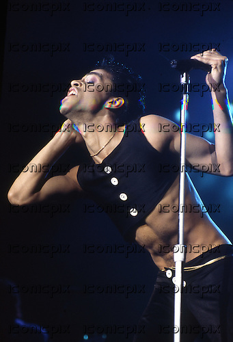 Prince - performing live on the Parade Tour at Wembley Arena in London UK - 14 Aug 1986.  Photo credit: George Bodnar Archive/IconicPix