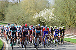 The peleton in action during the 116th edition of Paris-Roubaix 2018. 8th April 2018.<br /> Picture: ASO/Pauline Ballet | Cyclefile<br /> <br /> <br /> All photos usage must carry mandatory copyright credit (&copy; Cyclefile | ASO/Pauline Ballet)