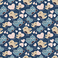 &quot;Birds In Love&quot; is a scalable vector surface pattern collection - inspired by cute birds and the sweet chemistry they share, which is often visible in their body language and behavior.<br />