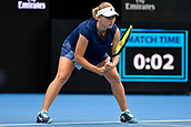 9th January 2018, Sydney Olympic Park Tennis Centre, Sydney, Australia; Sydney International Tennis, round 1; Daria Gavrilova (AUS) prepares to receive serve in her match against Olivia Rogowska (AUS)