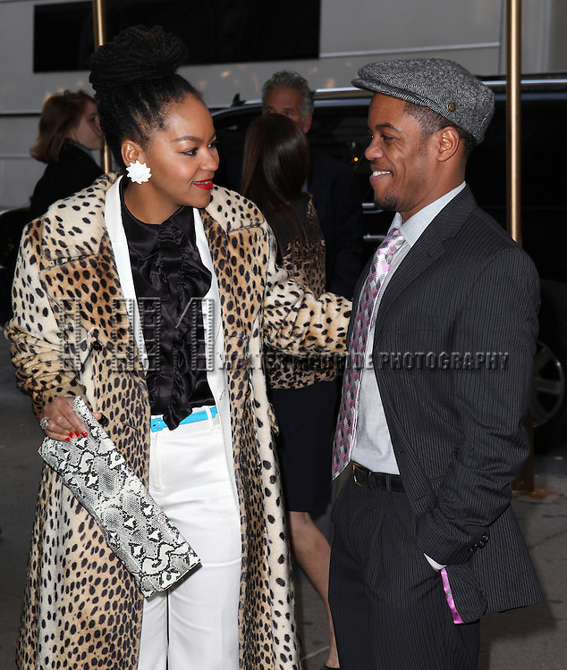Jon Michael Hill and Crystal A. Dickinson attending the Opening Night Performance of Edward Albee's 'Who's Afraid of Virginia Woolf?' at the Booth Theatre on October 13, 2012 in New York City.